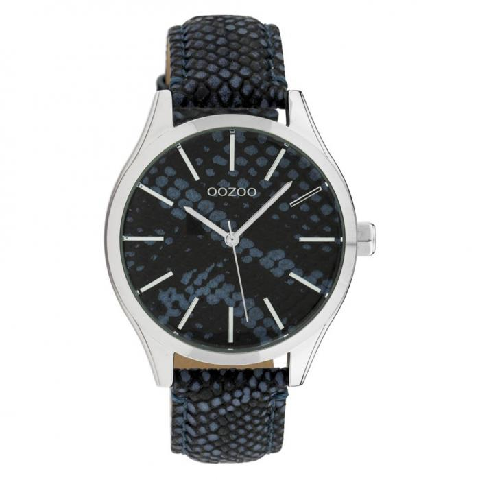 SKU-42669 / OOZOO Timepieces Blue Snake Leather Strap