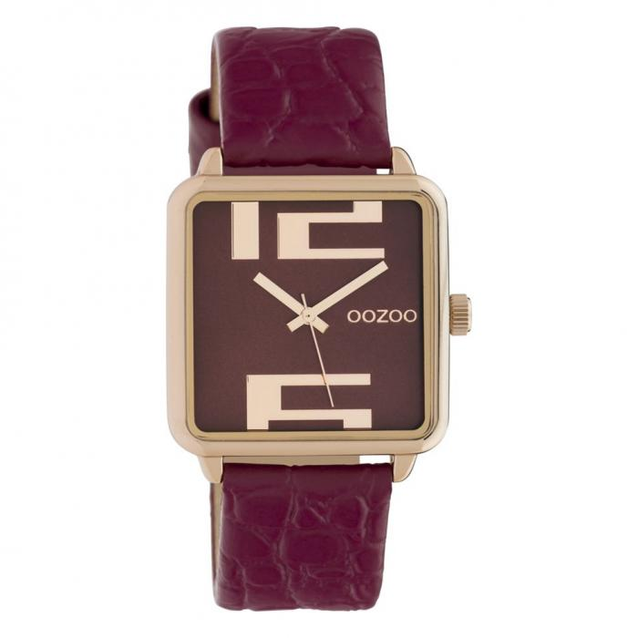 SKU-42611 / OOZOO Timepieces Bordeaux Leather Strap