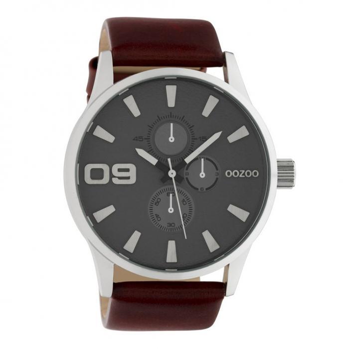SKU-42465 / OOZOO Timepieces Brown Leather Strap