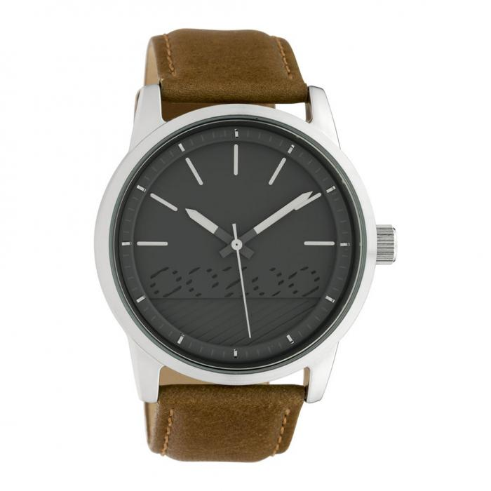 SKU-42469 / OOZOO Timepieces Brown Leather Strap
