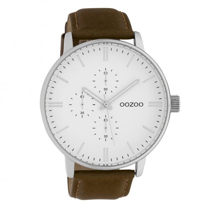 SKU-42473 / OOZOO Timepieces Brown Leather Strap