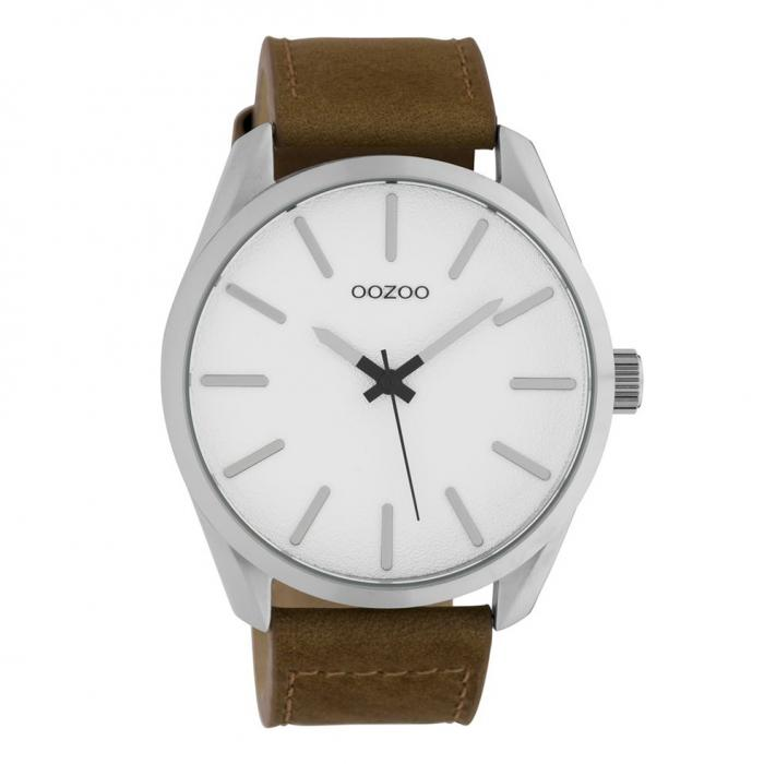 SKU-42550 / OOZOO Timepieces Brown Leather Strap