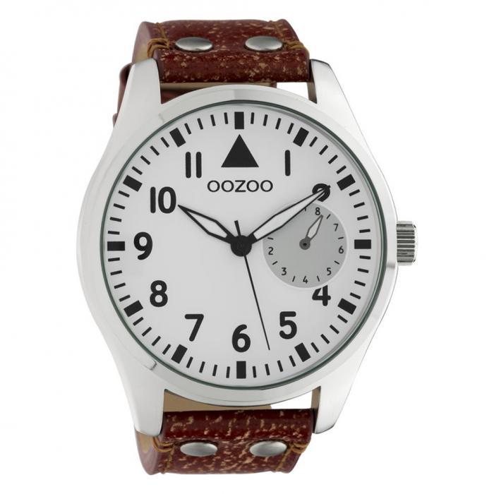 SKU-42562 / OOZOO Timepieces Brown Leather Strap
