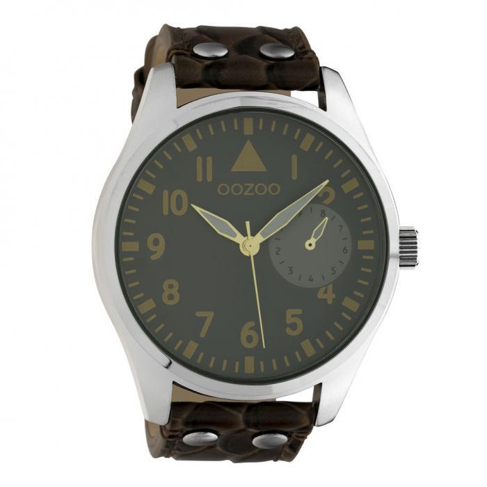SKU-42575 / OOZOO Timepieces Brown Leather Strap