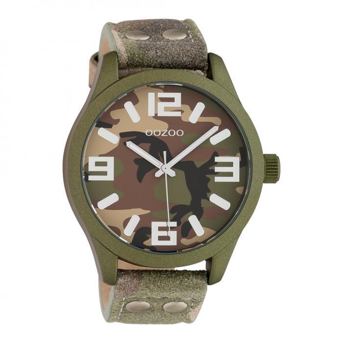 SKU-42528 / OOZOO Timepieces Camo Leather Strap