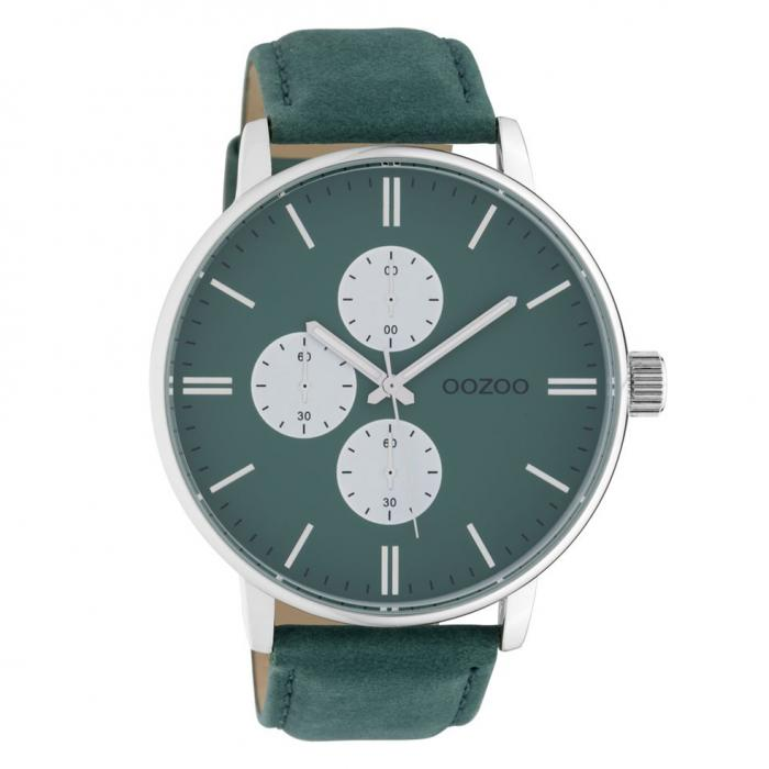 SKU-42542 / OOZOO Timepieces Green Leather Strap