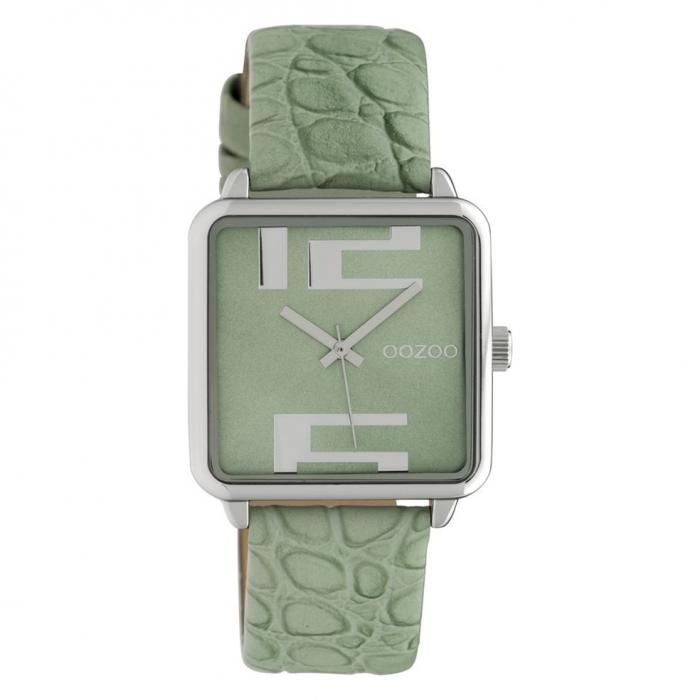 SKU-42610 / OOZOO Timepieces Green Leather Strap