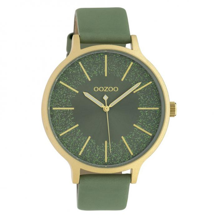 SKU-42648 / OOZOO Timepieces Green Leather Strap