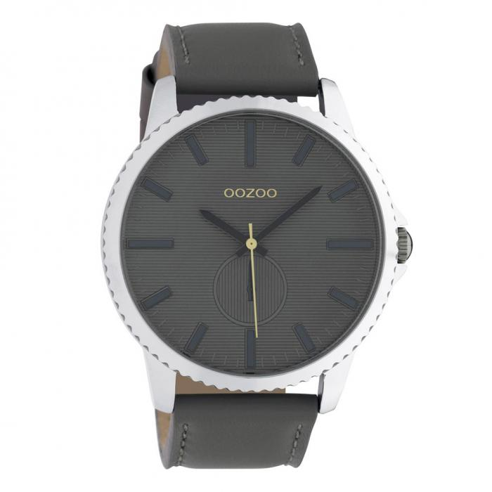 SKU-42577 / OOZOO Timepieces Grey Leather Strap