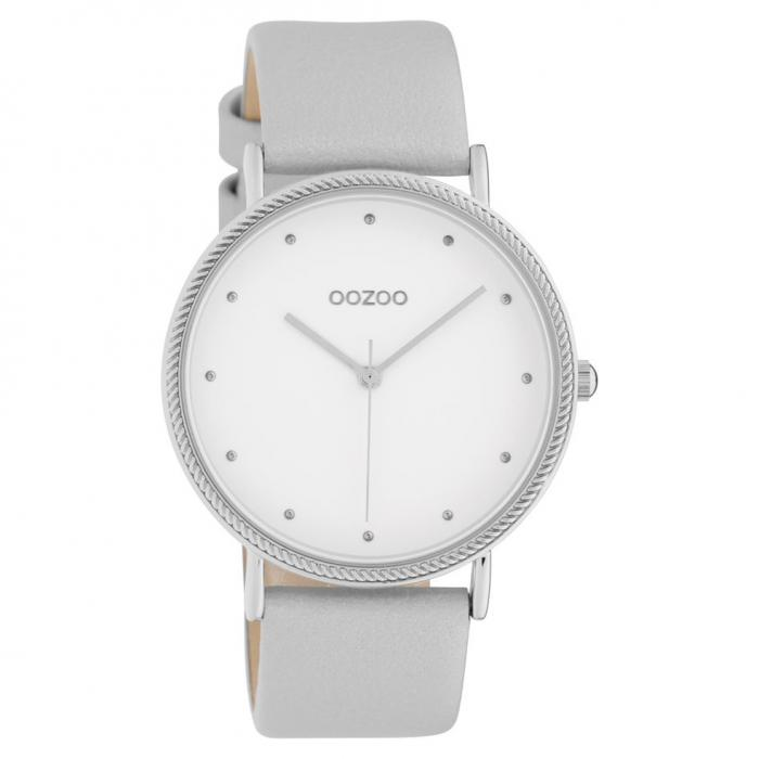 SKU-42650 / OOZOO Timepieces Grey Leather Strap