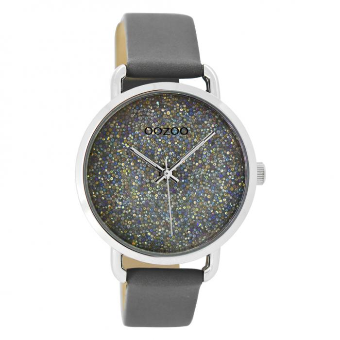 SKU-42756 / OOZOO Timepieces Grey Leather Strap