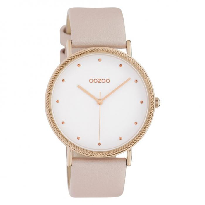 SKU-42654 / OOZOO Timepieces Pink Leather Strap
