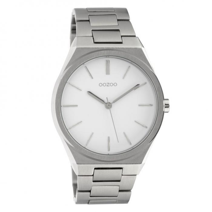 SKU-42582 / OOZOO Timepieces Silver Metallic Bracelet