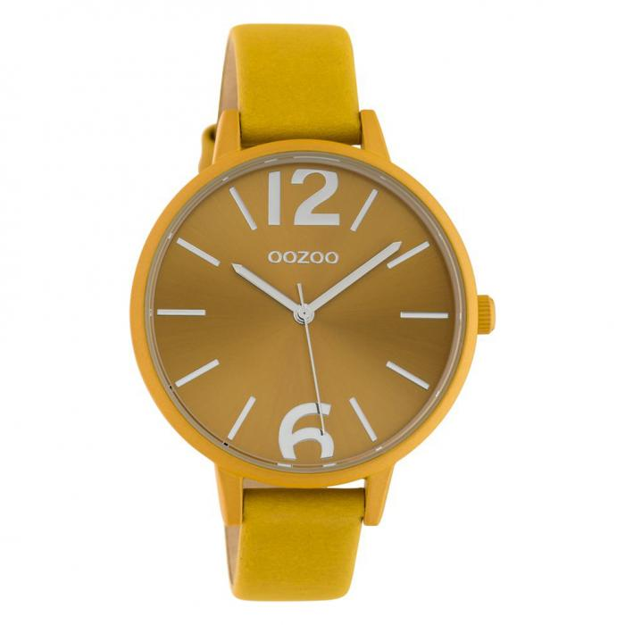 SKU-42675 / OOZOO Timepieces Yellow Leather Strap
