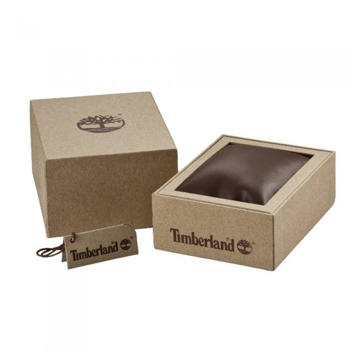 TIMBERLAND Ridgeview Dual Time Brown Leather Strap