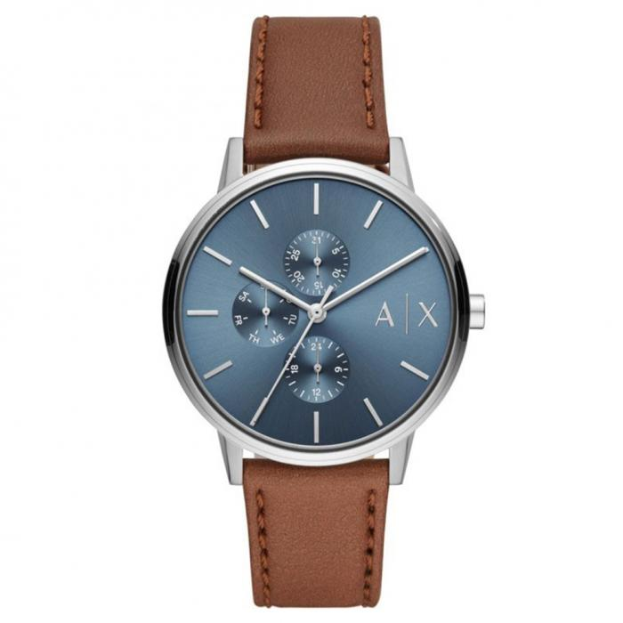 SKU-43541 / ARMANI EXCHANGE Cayde Brown Leather Strap