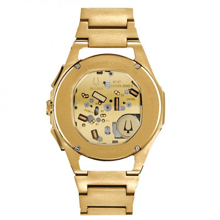 BULOVA Curv Chronograph Gold Stainless Steel Bracelet