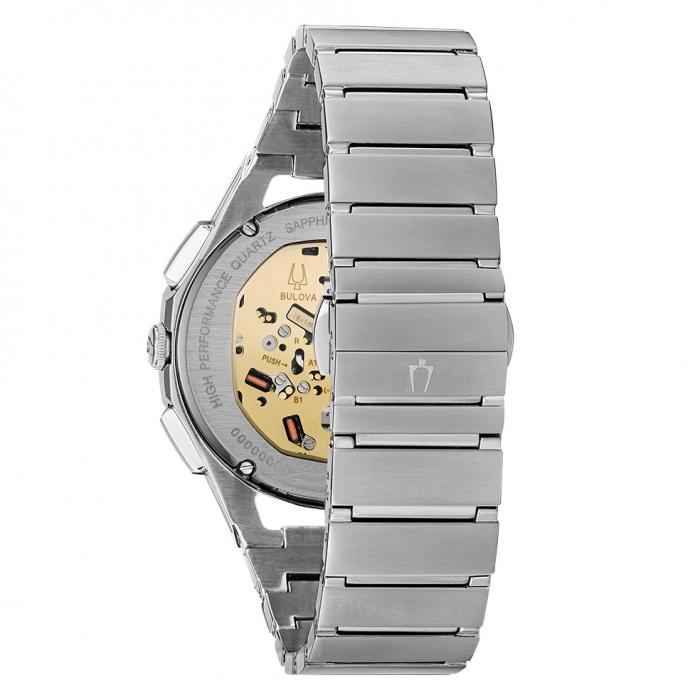 BULOVA Curv Chronograph Silver Stainless Steel Bracelet