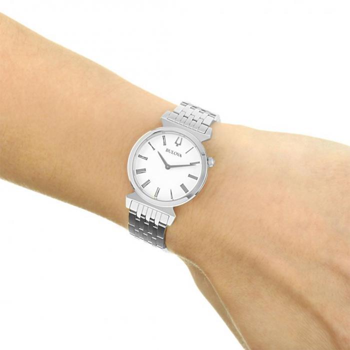 BULOVA Regatta Silver Stainless Steel Bracelet