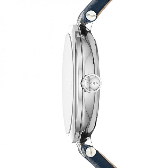 DKNY Eastside Crystals Blue Leather Strap