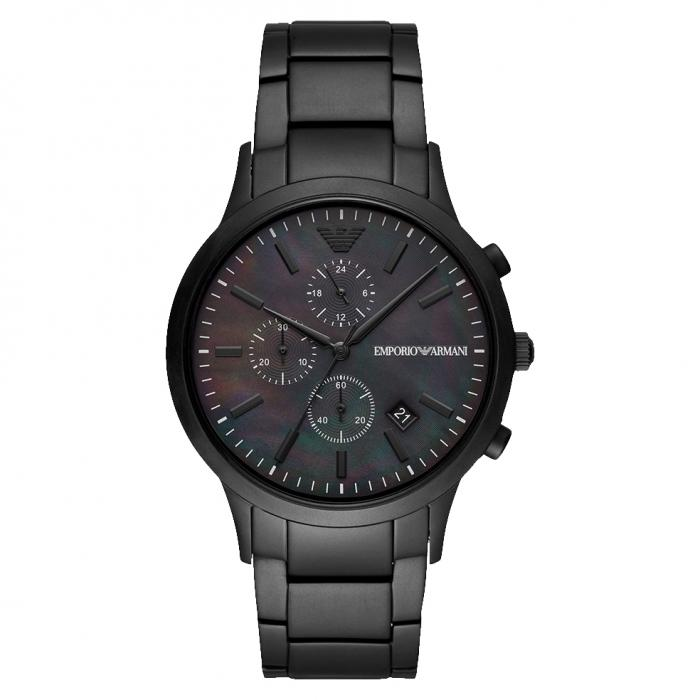 SKU-43586 / EMPORIO ARΜΑΝΙ Renato Black Stainless Steel Bracelet
