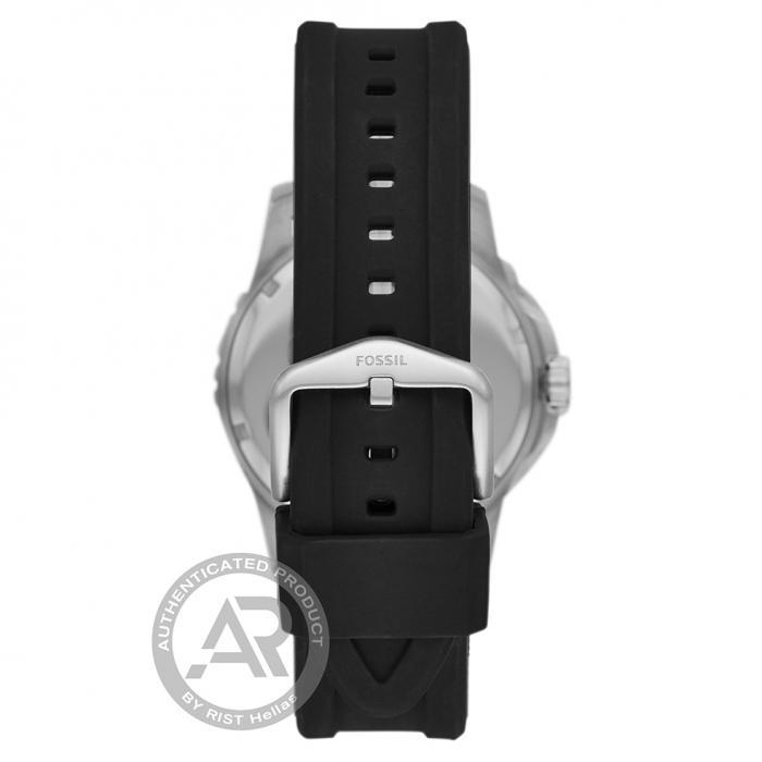 FOSSIL FB01 Black Silicone Strap