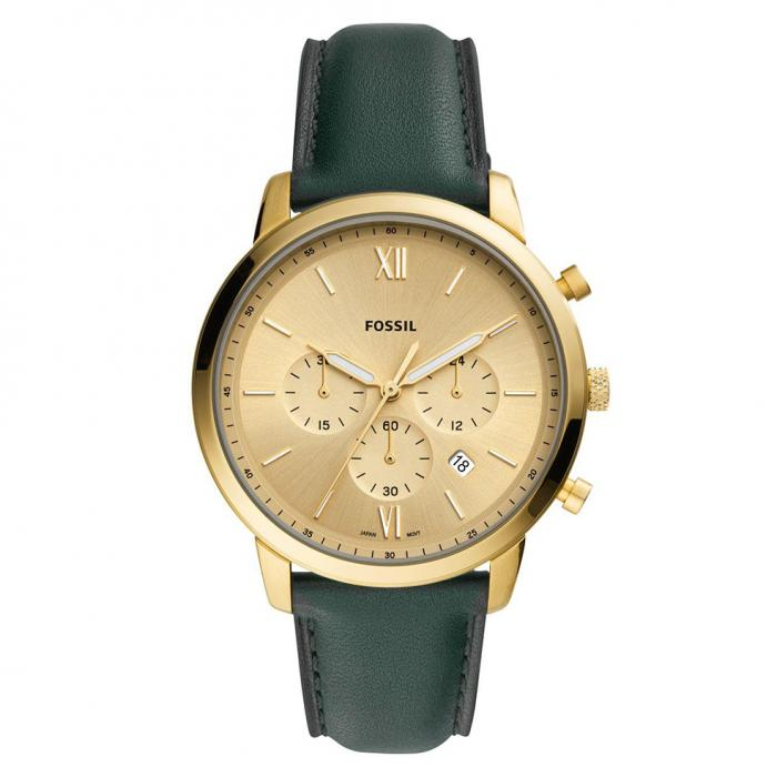 SKU-43132 / FOSSIL Neutra Chronograph Green Leather Strap