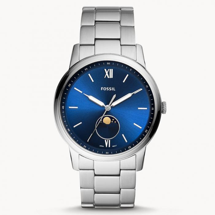 FOSSIL The Minimalist Moonphase Silver Stainless Steel Bracelet