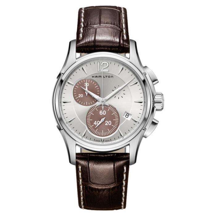 SKU-43545 / HAMILTON Jazzmaster Chronograph Brown Leather Strap