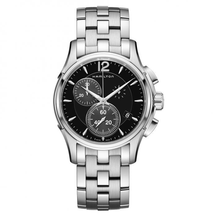SKU-43528 / HAMILTON Jazzmaster Chronograph Silver Stainless Steel Bracelet