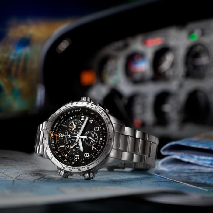 SKU-43539 / HAMILTON Khaki Aviation X-Wind GMT Chronograph Stainless Steel Bracelet