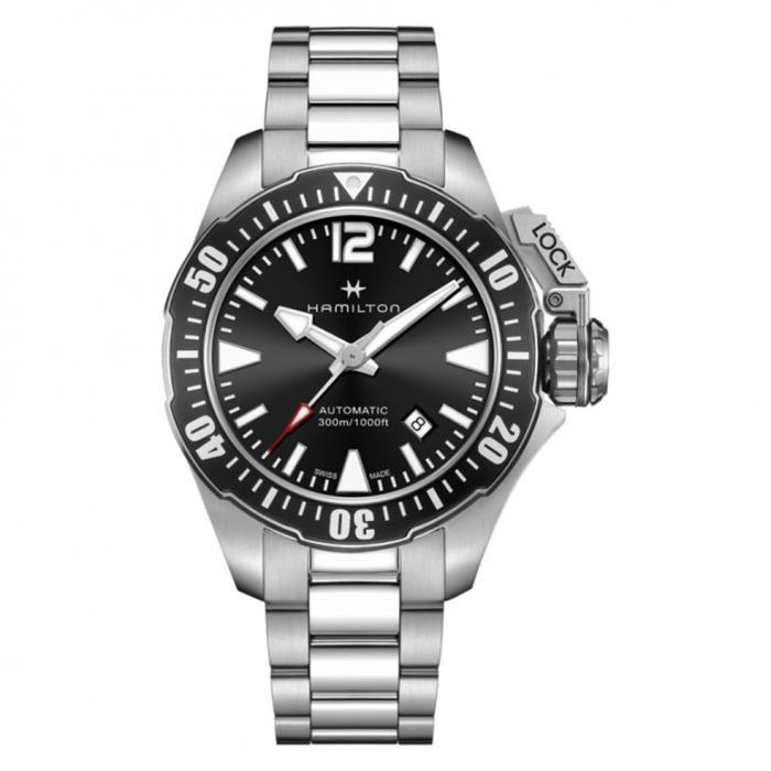 SKU-43529 / HAMILTON Khaki Navy Frogman Automatic Stainless Steel Bracelet