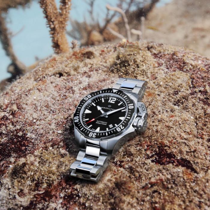 HAMILTON Khaki Navy Frogman Automatic Stainless Steel Bracelet