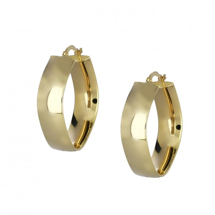 SKU-43882 / Σκουλαρίκια Κρίκοι Χρυσός Κ14