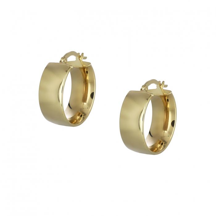 SKU-43883 / Σκουλαρίκια Κρίκοι Χρυσός Κ14