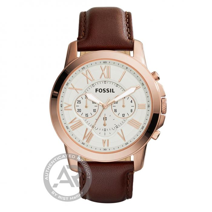 SKU-44424 / FOSSIL Grant Brown Leather Strap