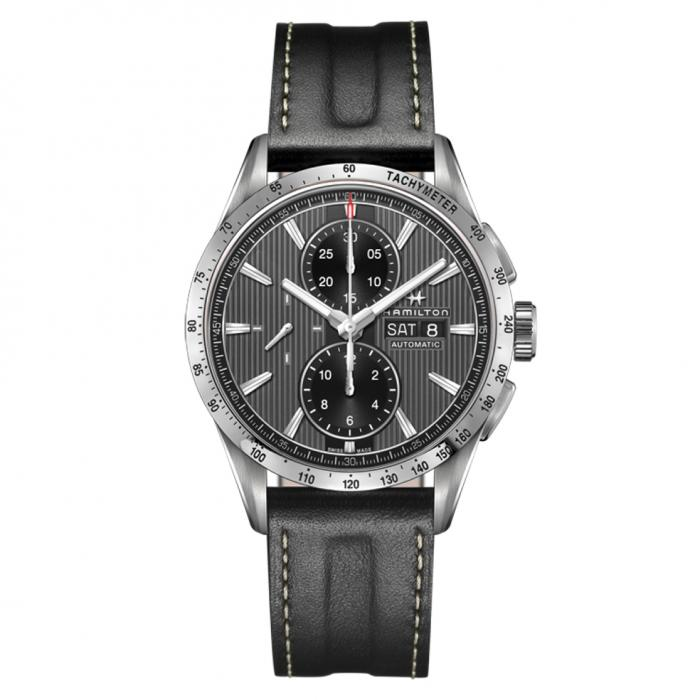 SKU-44536 / HAMILTON Broadway Automatic Chronograph Black Leather Strap