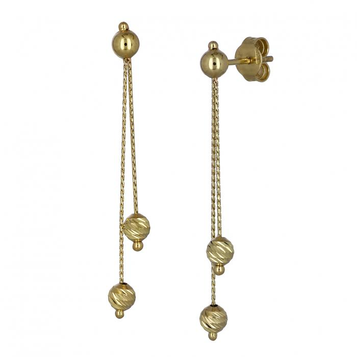 SKU-44010 / Σκουλαρίκια Χρυσός Κ14