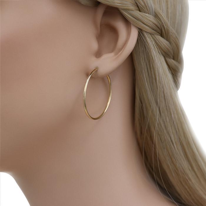 SKU-44733 / Σκουλαρίκια Κρίκοι Χρυσός Κ14