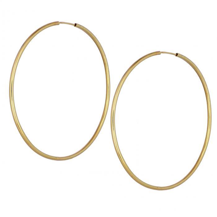 SKU-44735 / Σκουλαρίκια Κρίκοι Χρυσός Κ14