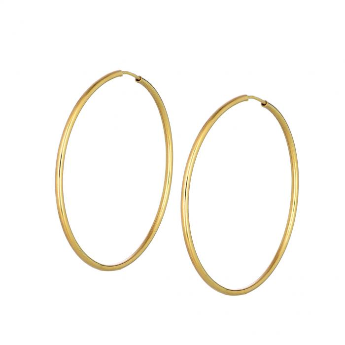 SKU-44723 / Σκουλαρίκια Κρίκοι Χρυσός Κ9