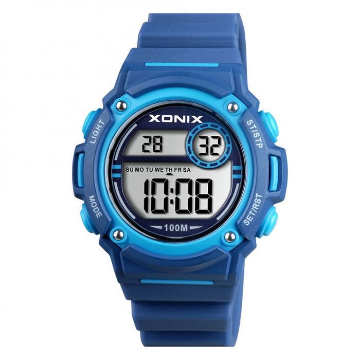 SKU-44276 / XONIX Digital Chronograph Blue Silicone Strap
