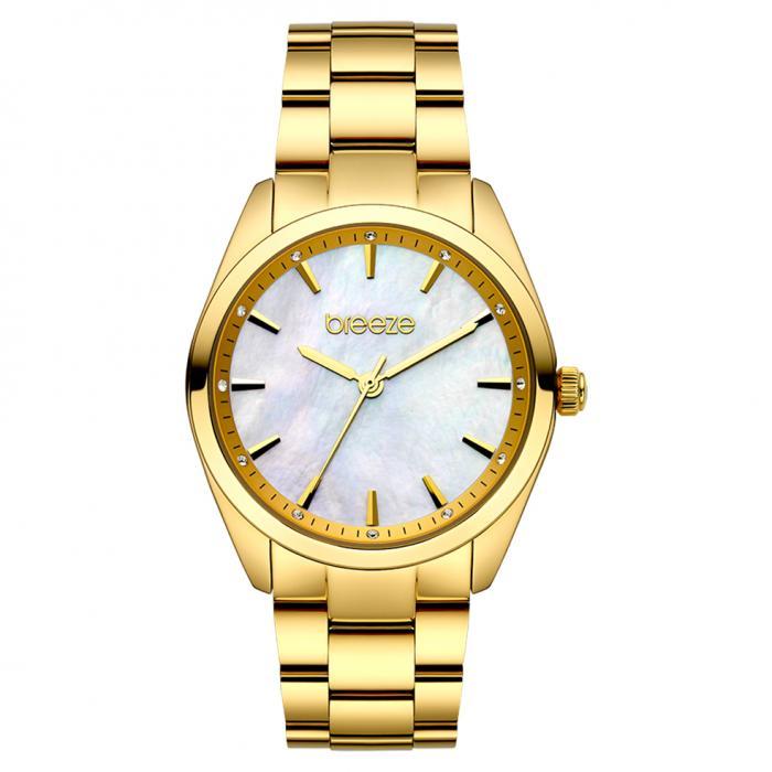 SKU-45392 / BREEZE Finesse Crystals Gold Stainless Steel Bracelet