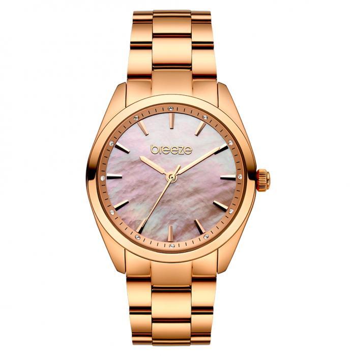 SKU-45438 / BREEZE Finesse Crystals Rose Gold Stainless Steel Bracelet