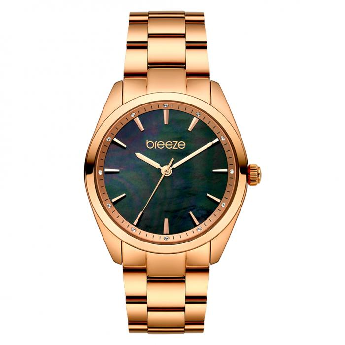 SKU-45439 / BREEZE Finesse Crystals Rose Gold Stainless Steel Bracelet