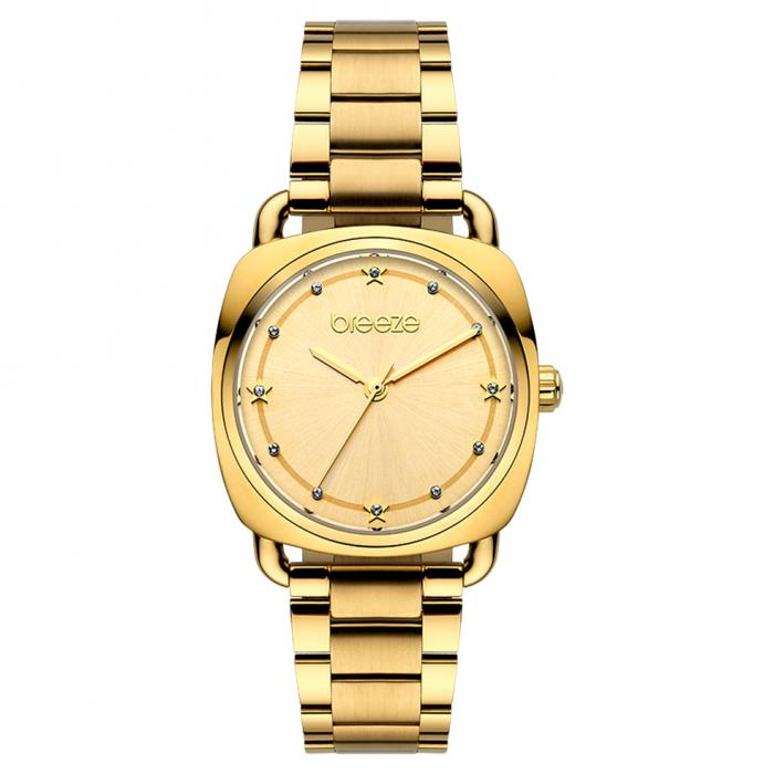 SKU-45453 / BREEZE Musette Crystals Gold Stainless Steel Bracelet