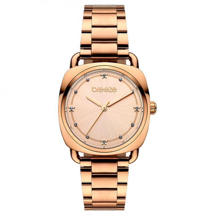 SKU-45454 / BREEZE Musette Crystals Rose Gold Stainless Steel Bracelet