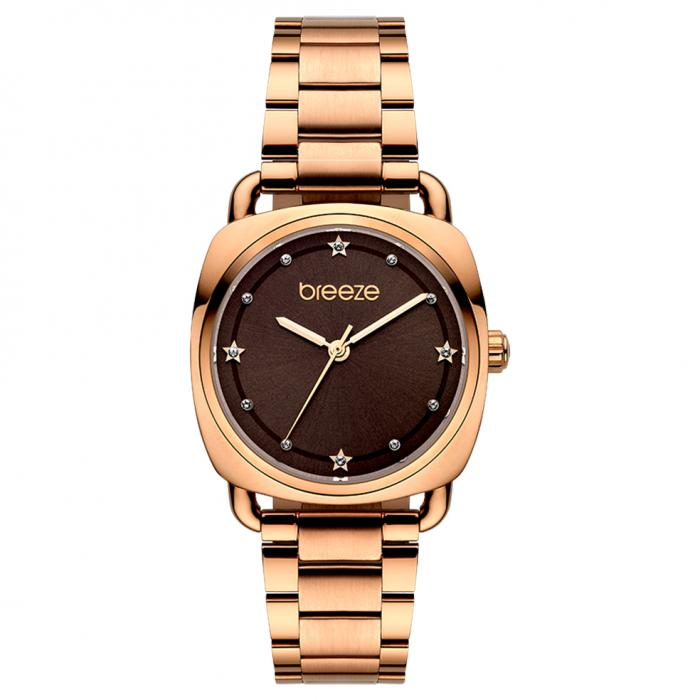 SKU-45455 / BREEZE Musette Crystals Rose Gold Stainless Steel Bracelet