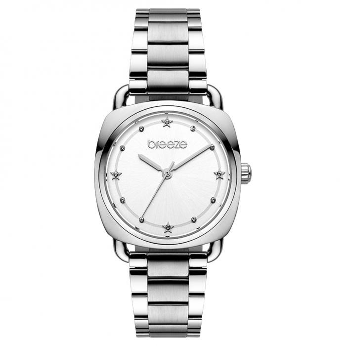 SKU-45456 / BREEZE Musette Crystals Silver Stainless Steel Bracelet