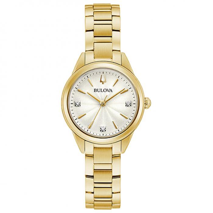 SKU-45963 / BULOVA Sutton Diamonds Gold Stainless Steel Bracelet